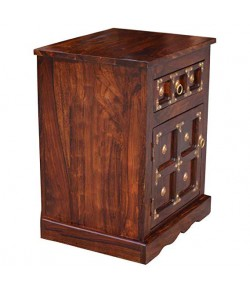 Denzel Bed Brass Work Bedside Table