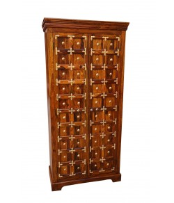 Bolivia Sheesham Wood Multipurpose Storage Wardrobe Almirah for Bedroom Brown