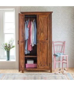 Allan Handicrafts Sheesham Wood Wardrobe/Cabinet