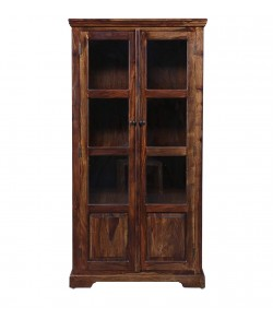 Morse Solid Wooden Book Case in Provincial Teak Finish
