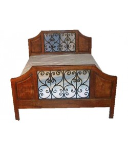 Emboss Solid Wood Bed