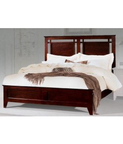 Swirl Sheesham Wood Bed
