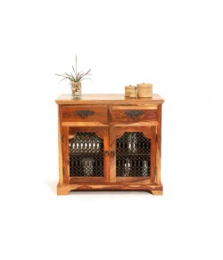 Cambrey Solid Sheesham Wood Cabinet