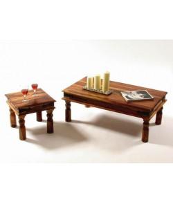 Garret Solid Sheesham Wood Nest of Tables