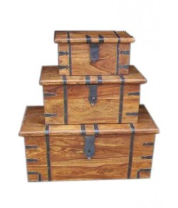 Alfie Solid Wood  Box Set Of Three