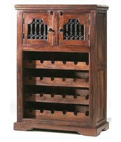 Norris Bar Cabinet Solide Sheesham Wood