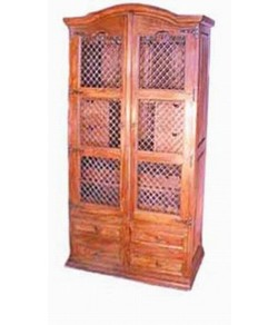 Hagborg Solid Wood Hutch Cabinet