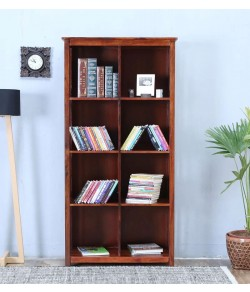 Osias Solid Wood Book Shelf in Honey Oak Finish