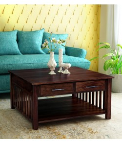 Ridell Solid Wood Coffee Table in Provincial Teak Finish