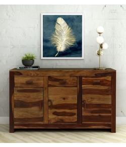 Warrican Solid Wood Sideboard in Rustic Teak Finish