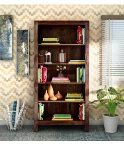 Fanny Solid Wood Book Shelf in Provincial Teak Finish