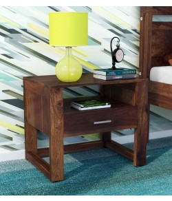 Arista  Bed Wood Night Stand in Provincial Teak Finish