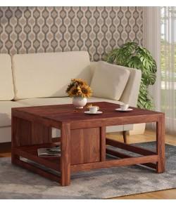 Lynet  Solid Wood Coffee Table in Honey Oak Finish