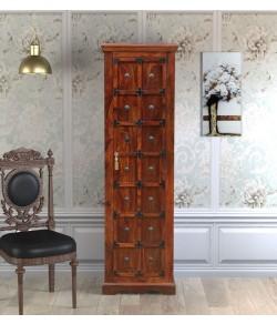 Bolivia Solid Wood 1 Door Wardrobe in Honey oak Finish