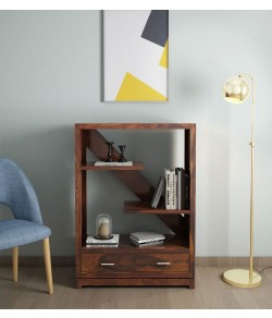Pietro Solid Wood Book Shelf in Dual Tone Finish