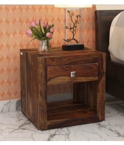 Ferguson Bed Night Stand in Rustic Teak Finish