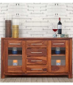 Jett Sideboard Solidwood Cabinet In Brown Finish