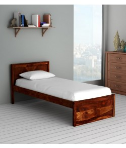 Walken Solid Wood Single Bed in Honey oak Finish
