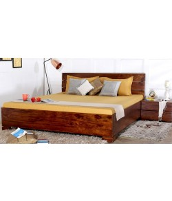 Solid Wood Allan Queen And King Size storage bed