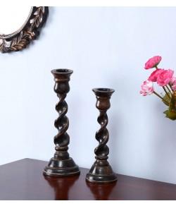 Wooden Swirl Vase