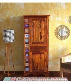Harley Solid Wood 1 Door Wardrobe in Honey Oak Finish