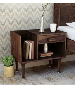 Boho Bed Nexo Solid Wood Night Stand in Provincial Teak Finish
