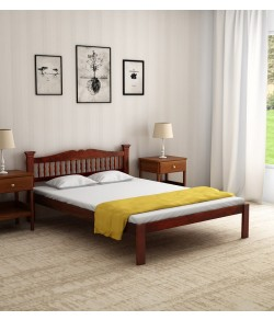 Morse Solid Wood Queen Size Bed in Honey Oak Finish