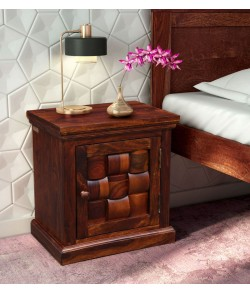 Cambrey Bed Woodway Solid Wood Bedside Cabinet in Honey Oak Finish