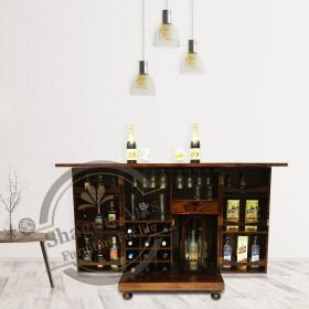 Stylish Brown wine Cabinet