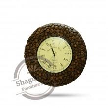 Dark Golden Sturdy Wooden Wall Clock