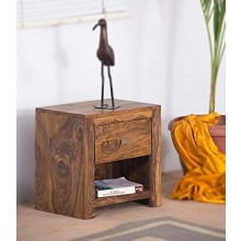 Roundhill Sheesham Wood Bedside Tables