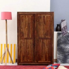 Bolivia Handmade Exclusive Sheesham Wood Wardrobe Perfect for Living Room Provincial Teak Finishing