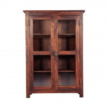 Pietro Tiffany Display Shelf (Sheesham Wood, Honey Oak)