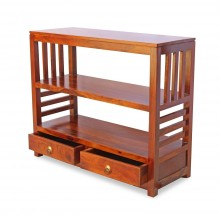 Lacey Sheesham Wood Console Tables with 2 Drawer for Living Room (Teak Finish)