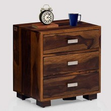 Dela Bedside Table (Teak Finish)