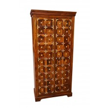 Bolivia Sheesham Wood Multipurpose Storage Wardrobe Almirah for Bedroom Brown