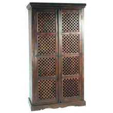 Aramika Solid Wood 2 Door Wardrobe