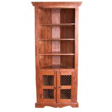 Essex Solid Sheesham Wood cornor Book Shelf