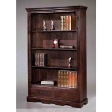 Bartolo Book Shelf with one Drawer in Dark Brown Finish