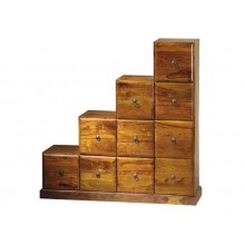 Magnum Solid Sheesham Wood step drawer chest