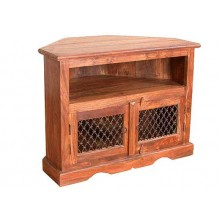 Emboss Solid Sheesham Wood Tv Unit