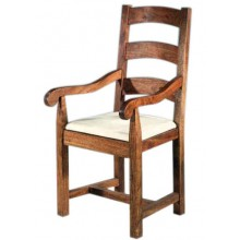Aura Solid Sheesham Wood Armchair