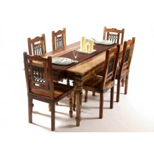 Hagborg solide Sheesham Wood Dining Table