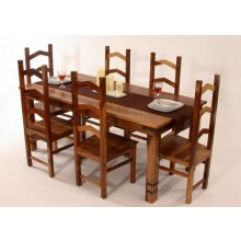 Dewey Extendable Sheesham Wood Dining Table