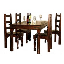 Warrican Extendable Solide Sheesham Wood Dining Table