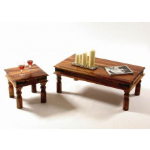 Garret Solid Sheesham Wood Nest of Tables
