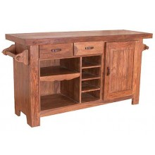 Trestle Solid Sheesham Wood Cabinet