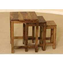 Kerry Solid Sheesham Wood Nest of Tables