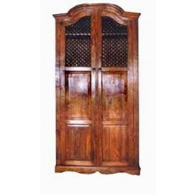 Boho Solid Wood Hutch Cabinet