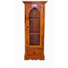 Anne Solid Sheesham Wood Hutch Cabinet
